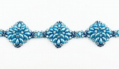 Diamond SuperDuo Bracelet Beadwork Kit - Light Blue